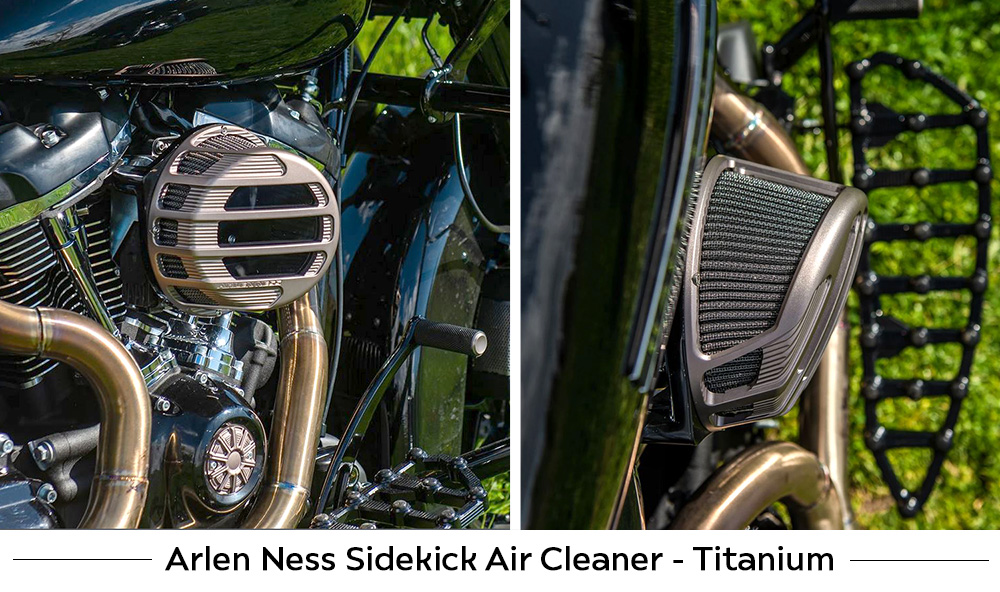 Arlen Ness Sidekick Air Cleaners for Harley Models