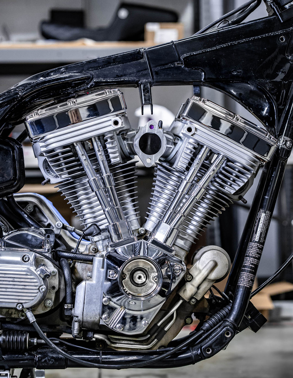 Harley FXR Motor Install