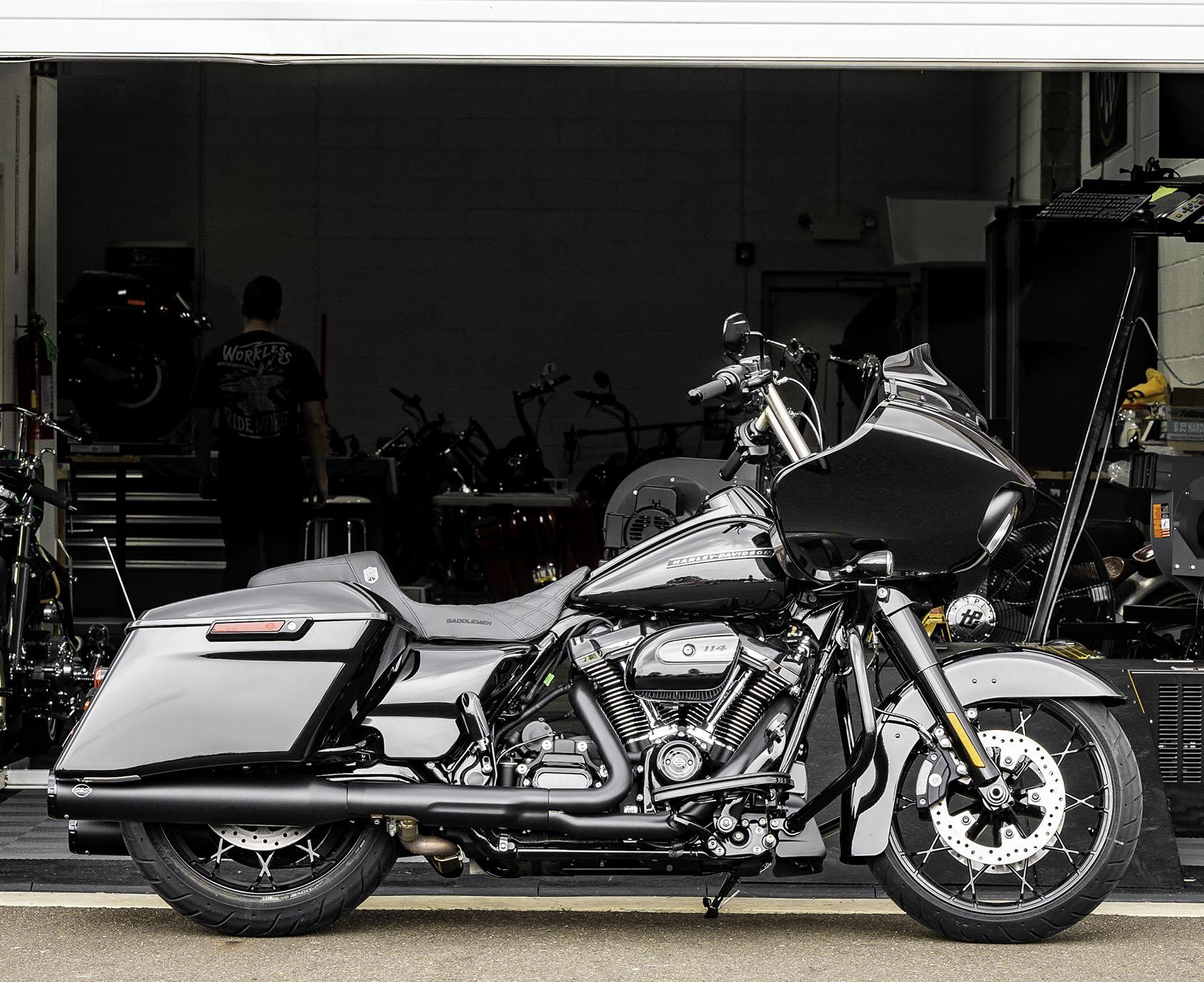 "S&S Black GNX 4.5"" Slip-On Mufflers for 2017-2020 Harley Touring"